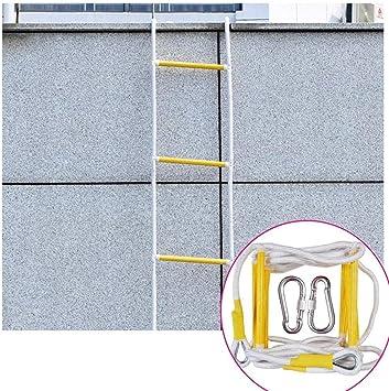 Escalera Cuerda Escape Incendios Escalera Blanda Incendios Cuerda Resistente A Las Llamas Escalera De Evacuación De Seguridad Contra Incendios De Emergencia Para Adultos Peso De Carga 420 Kg,15m: Amazon.es: Deportes y aire