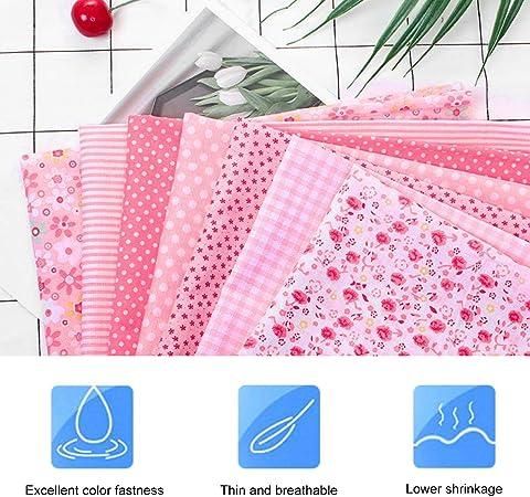 Tessuto cotone stoffa rosa cucito creativo patchwork