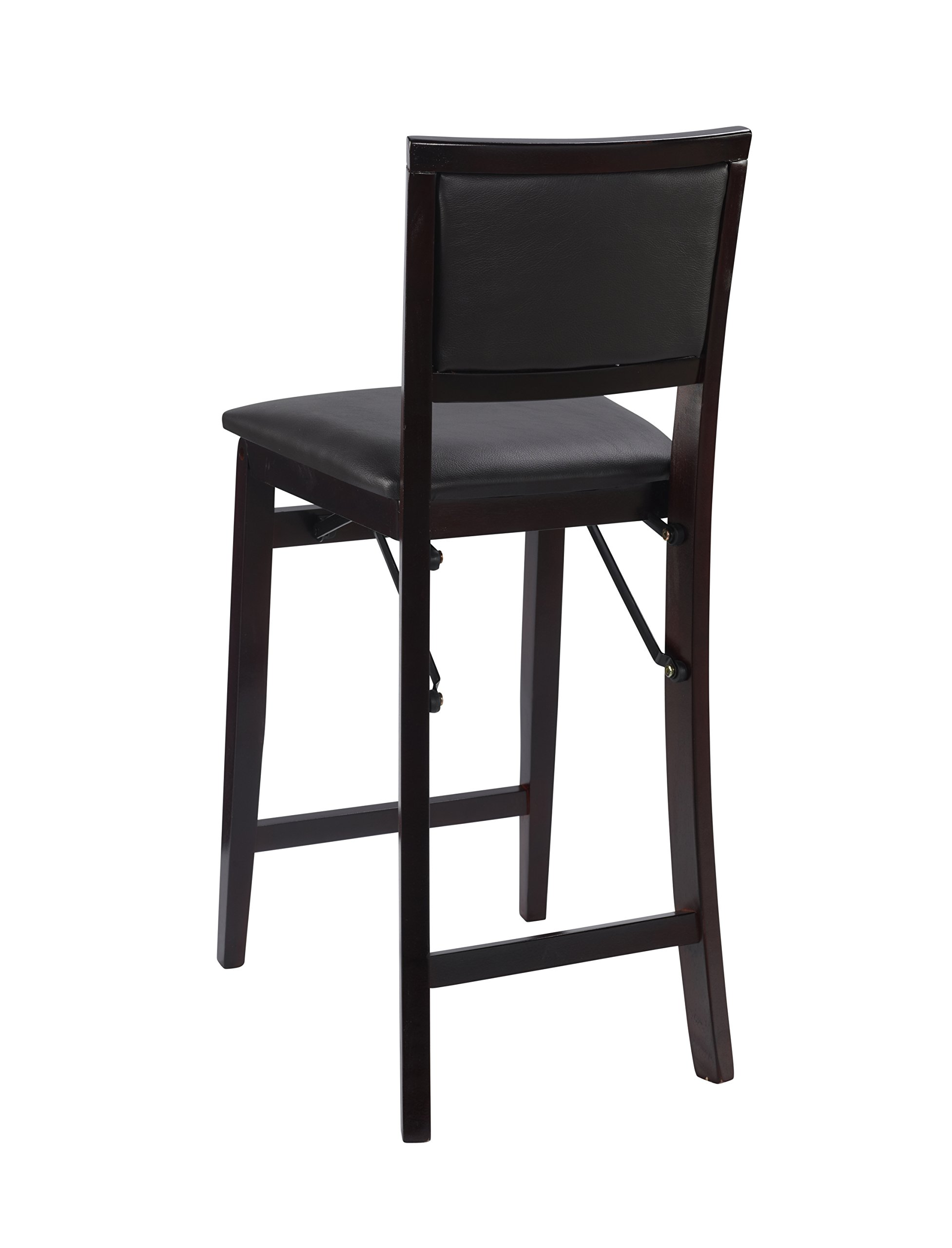 Linon Home Decor Keira Pad Back Folding Counter Stool 24