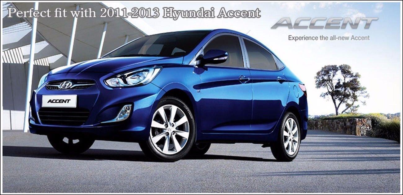 Sell by Automotiveapple, autoria V Eagle F R Dirección cubo de rueda tapacubos emblema 7-PC Set para 2011 -2014 Hyundai Accent: Amazon.es: Coche y moto