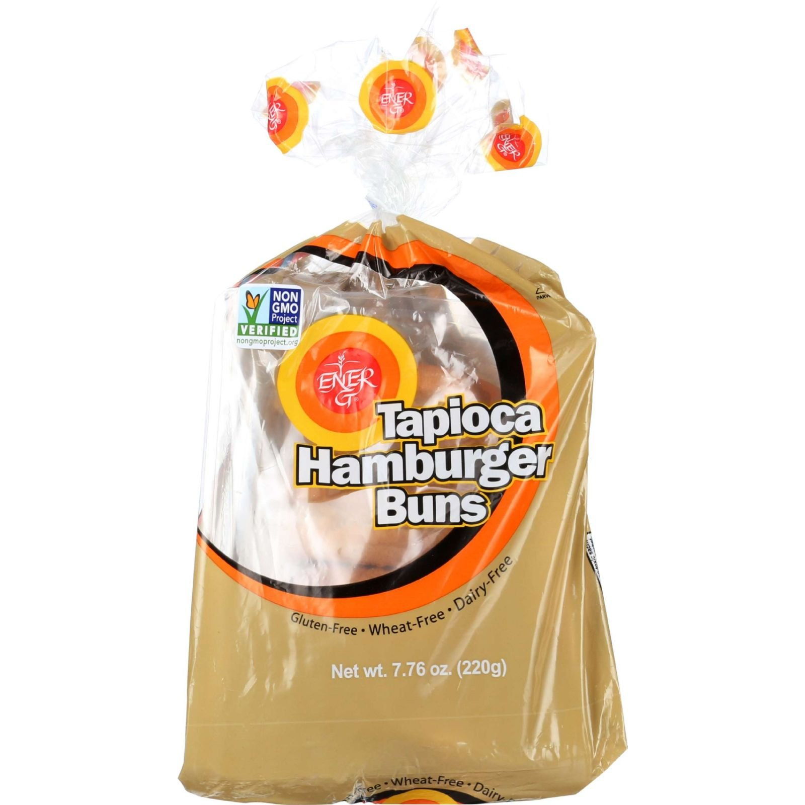Ener-G Foods Hamburger Buns - Tapioca - 7.76 oz - case of 6 - Dairy Free - Wheat Free- by Ener-G Foods