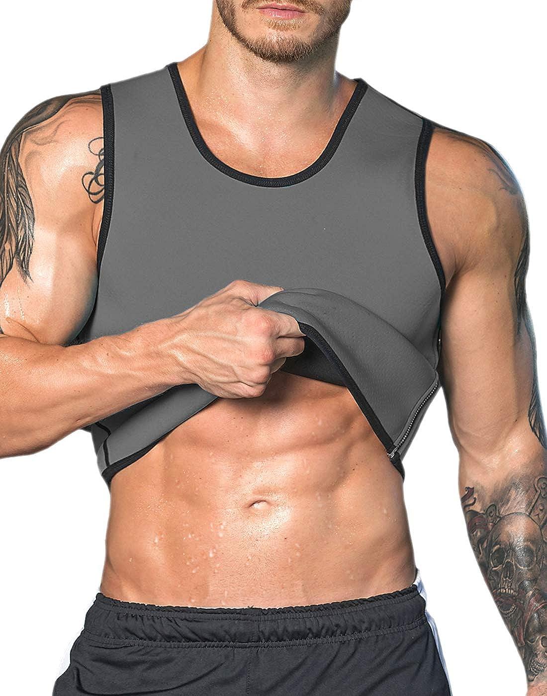 UK Men HOT Slimming Vest for Weight Loss Trimmer Sauna Sweat Shaper Tank Tops