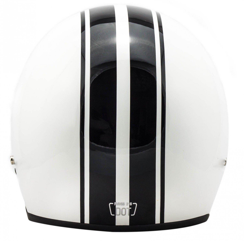 "Amazon.com: Arrow · AV-47 ""White"" (white) · Open Face Helmet · Motorcycle Jet Pilot Retro Scooter Motorbike · DOT certified · Click-n-Secure Clip · Carrier ..."