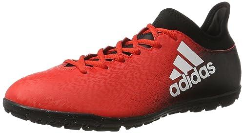 Adidas X 16.3 TF, Botas de Fútbol para Hombre, Rojo (Rojo/(Rojo/Ftwbla/Negbas) 000), 46 EU