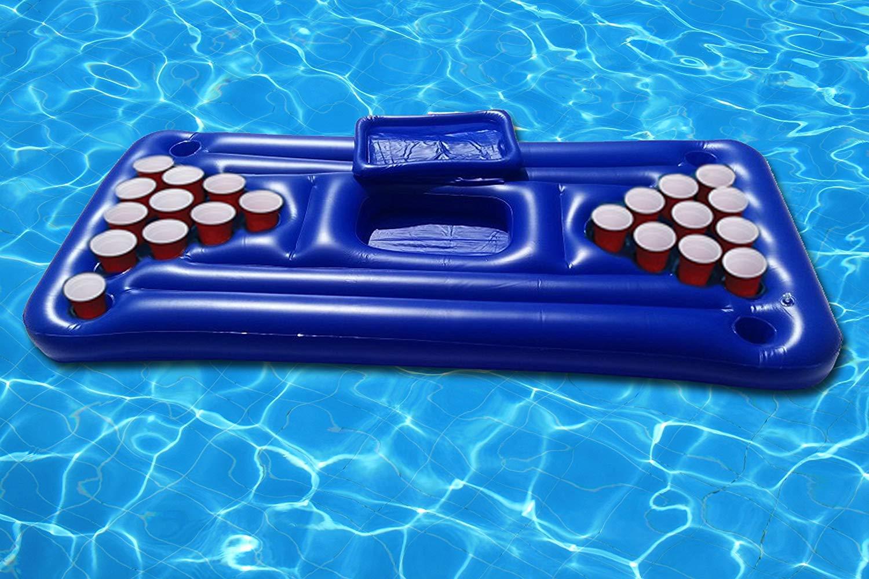 Hinchable Piscina Pong colchones de Aire. Hinchable Beer mesa de cerveza Pool pong
