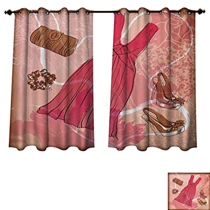 Amazoncom Heels And Dresses Blackout Thermal Backed Curtains For