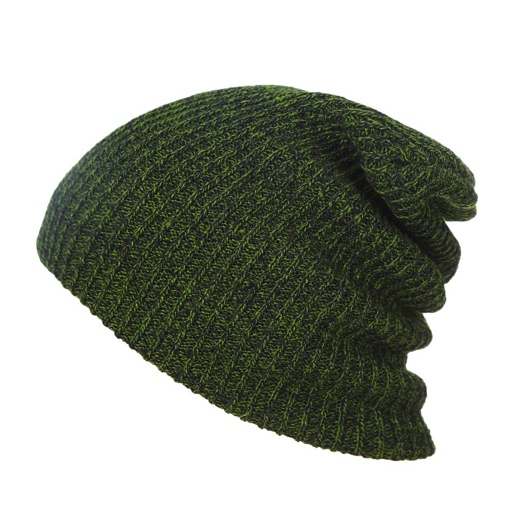 BESTOYARD Berretto Invernale Unisex Berretto Lavorato a Maglia Berretto Morbido Caldo Cappello Sci Berretto Hip-Pop Berretto per Uomo e Donna (Verde Scuro)