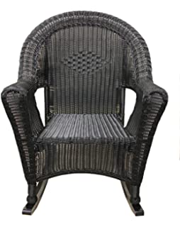lb black resin wicker rocking chair patio furniture - Wicker Rocking Chair