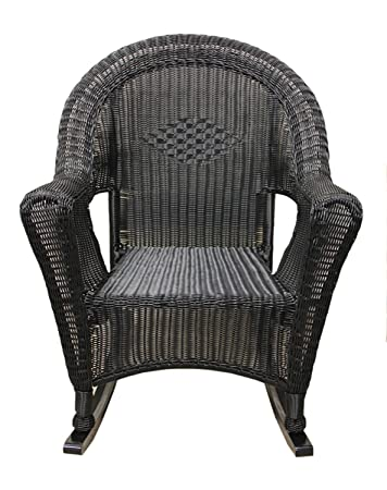 white wicker rocking chair indoor lb international black resin patio furniture ikea uk used for sale