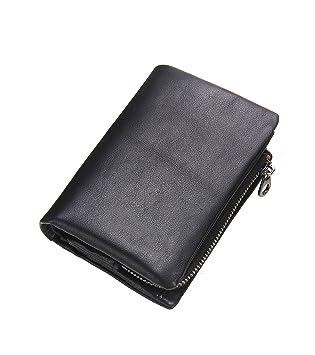 New Mens Luxury Soft Genuine Black Leather  Credit Card Holder Wallet Purse