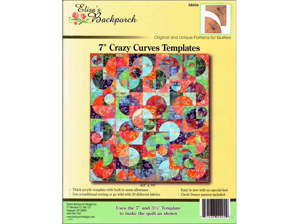 7in Crazy Curves Acrylic Template