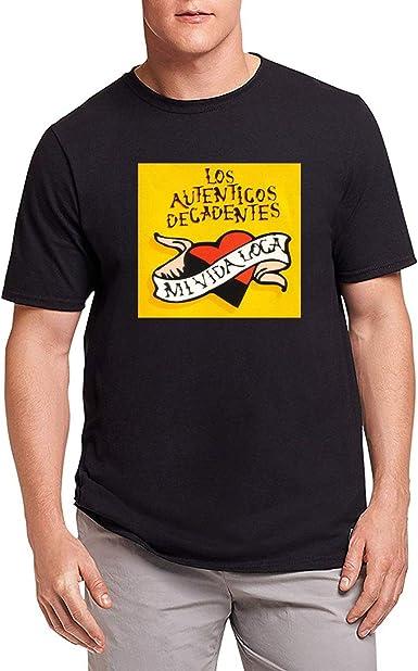 HAOKUII Hombre Black Camiseta T-Shirt Los Autenticos Decadentes La ...