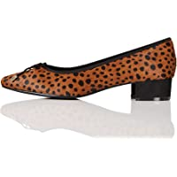 Marca Amazon - find. Mini Heel Leather Ballet