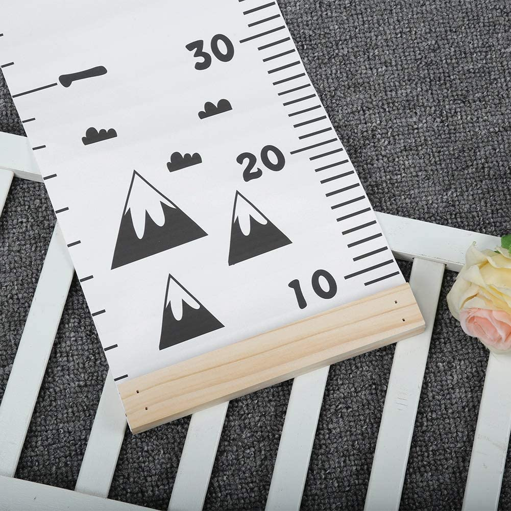 A Growth Chart for Children Wood Wall Hanging Kid Height Measuring Ruler Room Home Decoration