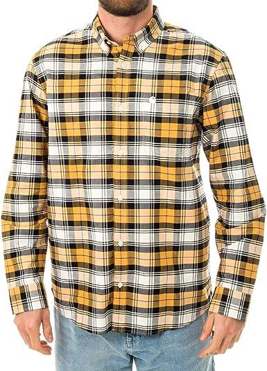 Carhartt Camicia UOMO WIP L/S Steen Shirt I028227.0G1: Amazon ...