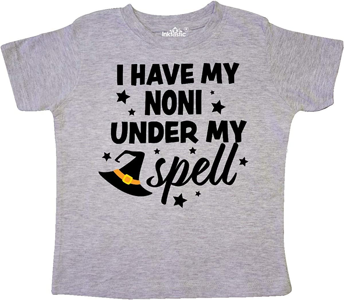 inktastic I Have My Noni Under My Spell with Cute Witch Hat Toddler T-Shirt