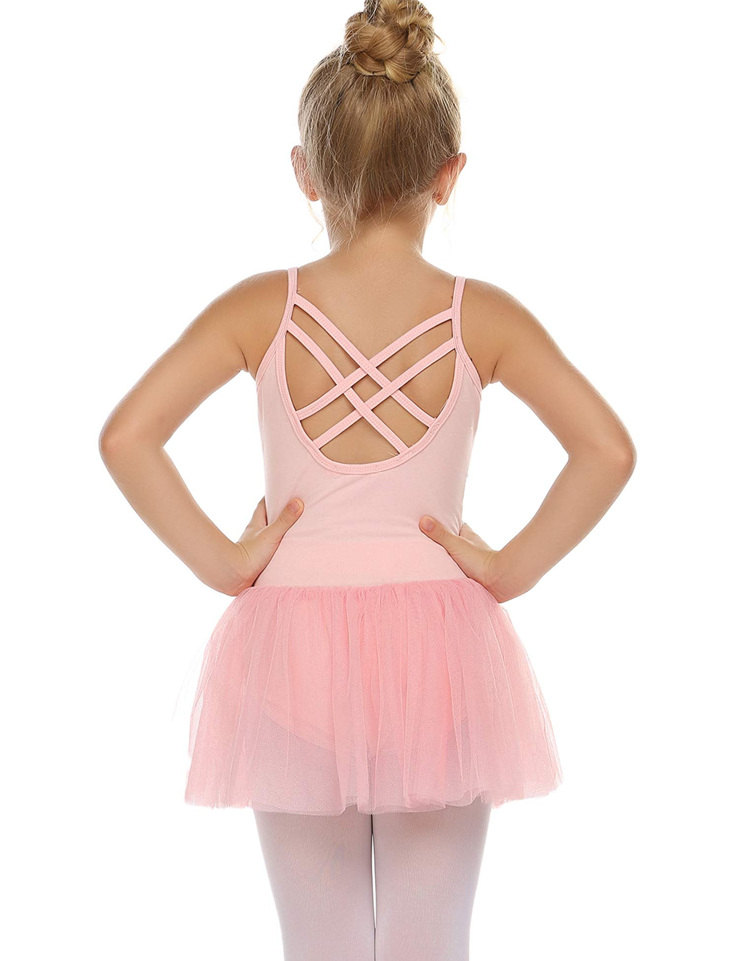 Zaclotre Girls Classic Long Sleeve Dance Dresses Ballet Skirted Leotard