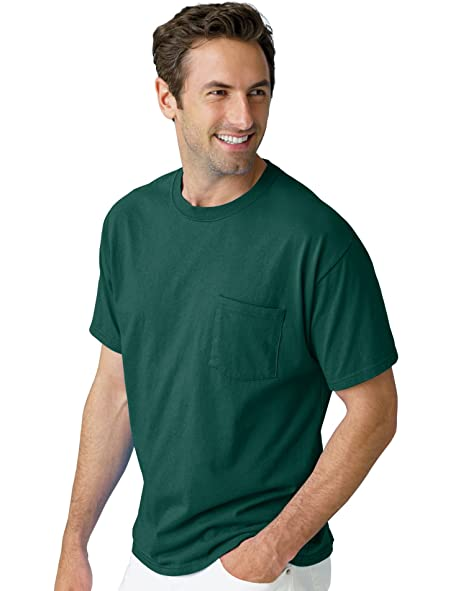 4e1595d0411c Image Unavailable. Image not available for. Color: Hanes Men's TAGLESS 6.1 Short  Sleeve Tee ...