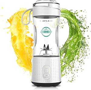 Portable Blender Personal Size Blender Juicer Cup for Juice Crushed-ice Smoothie Shake, Six Blades, USB Rechargeable, Waterproof Blender for Outdoor Picnic Travel Gym