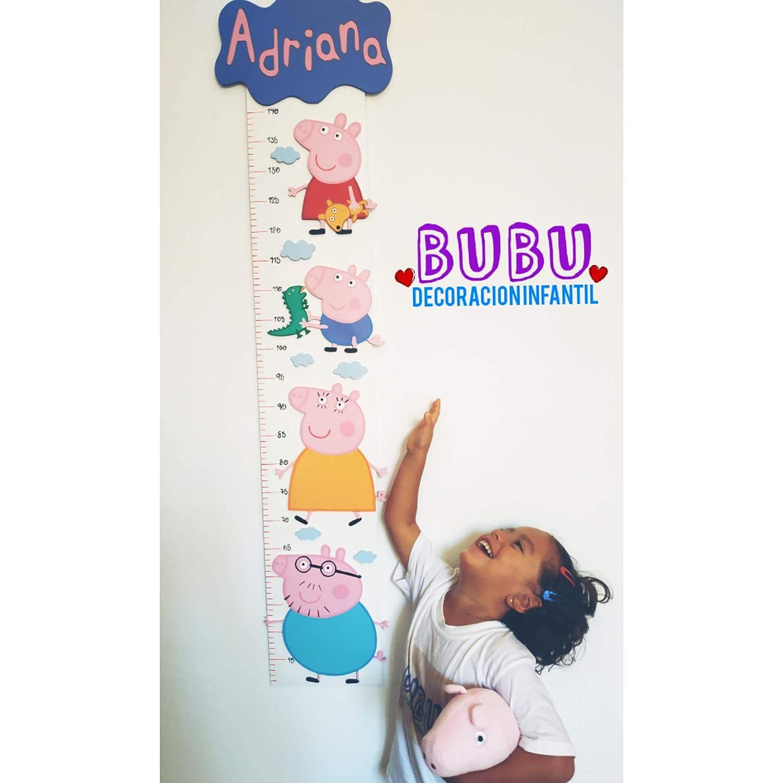Medidor infantil con diseño de Peppa Pig y nombre ...