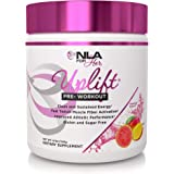 NLA for Her - Uplift - Pre-Workout Energy - Provides Clean/Sustained Energy, Supports Athletic Performance, Helps Fast Twitch