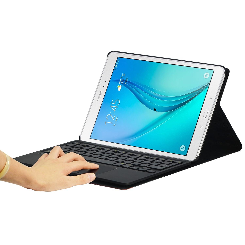 b2c7f81ed26 Posibilidad de configurar a español Bluetooth Desmontable QWERTY inglés Sharon  LEICKE Funda con Teclado inalámbrico para Samsung Galaxy S2 9 ...