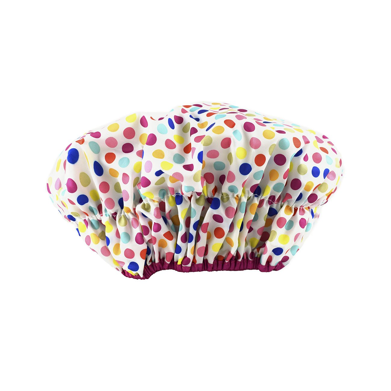 Betty Dain Fashionista Collection Mold Resistant Lined Shower Cap, Waterproof Exterior, PEVA Lining, Mold and Mildew Resistant, Oversized Design for All Hair Lengths, Elasticized Hem, Deco Dots : Beauty