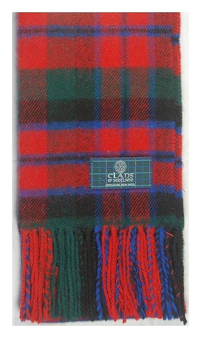 Lambswool Scottish Macnaughton Modern Tartan Clan Scarf Gift