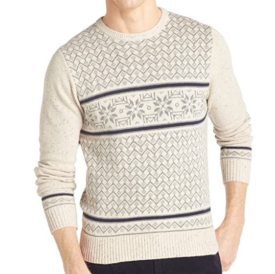 Izod Donegal Fair Isle Sweater Medium at Amazon Men's Clothing store: