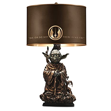 Star wars yoda bronze colored resin lamp with quote on lamp shade star wars yoda bronze colored resin lamp with quote on lamp shade by the bradford mozeypictures Image collections