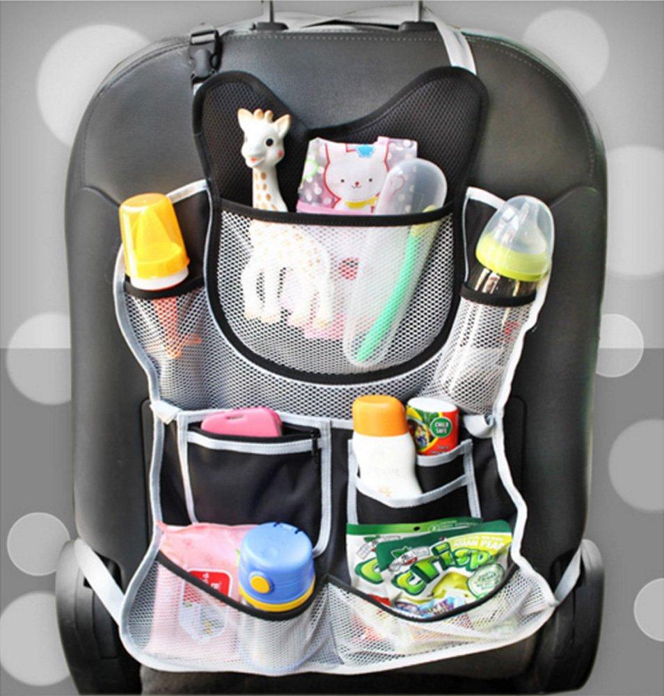 Baby Stroller Organizer Car Seat Multi Organizer Black (For All Ages)