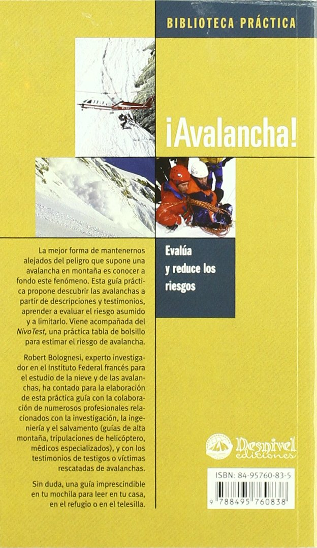 ¡Avalancha! : evalúa y reduce los riesgos: 9788495760838: Amazon.com: Books