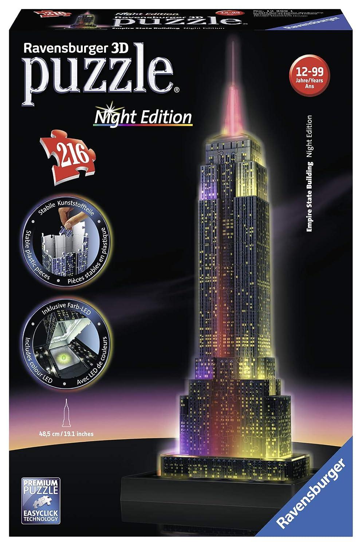 Puzzle 3D Ravensburger 12566 Empire State Building Da 12 Jahre Puzzles & Geduldspiele