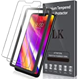 [2 Pack] LK Screen Protector for LG G7 ThinQ Tempered Glass (Alignment Frame Easy Installation) DoubleDefence 9H…