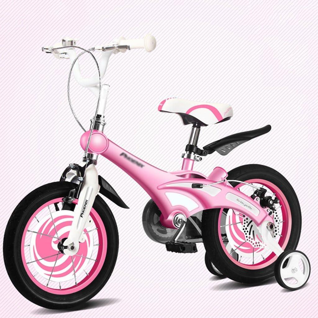 Li jing home Bicicletas para niños con Estilo niños y niñas Bicicletas para niños niños de 3/6/8 años de Edad (Color : Pink , Size : 12 Inch) : Amazon.es: Juguetes y juegos