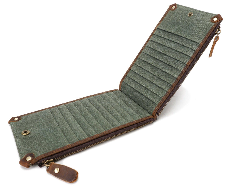 Männer Brieftasche Reißverschluss Canvas Long Multi Card Wallet Retro wasserdichte Tasche (Farbe   Bronze) B07DW4DXG2 Geldbrsen