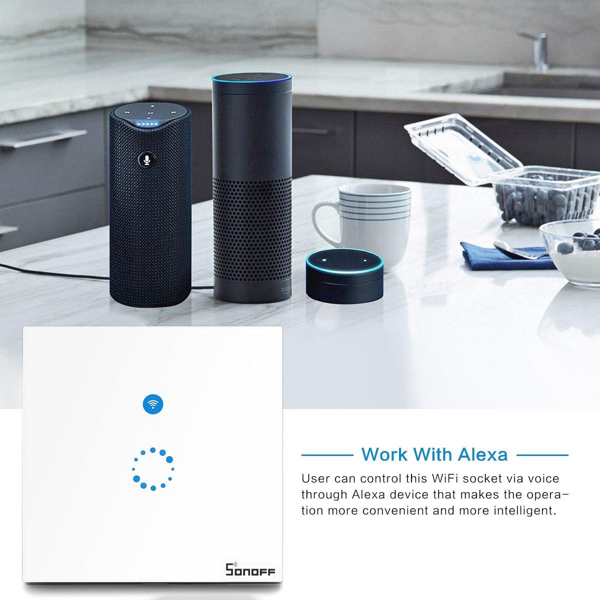 2 Stück Sonoff Touch Schalter( Funktioniert mit Amazon Alexa [Echo ...