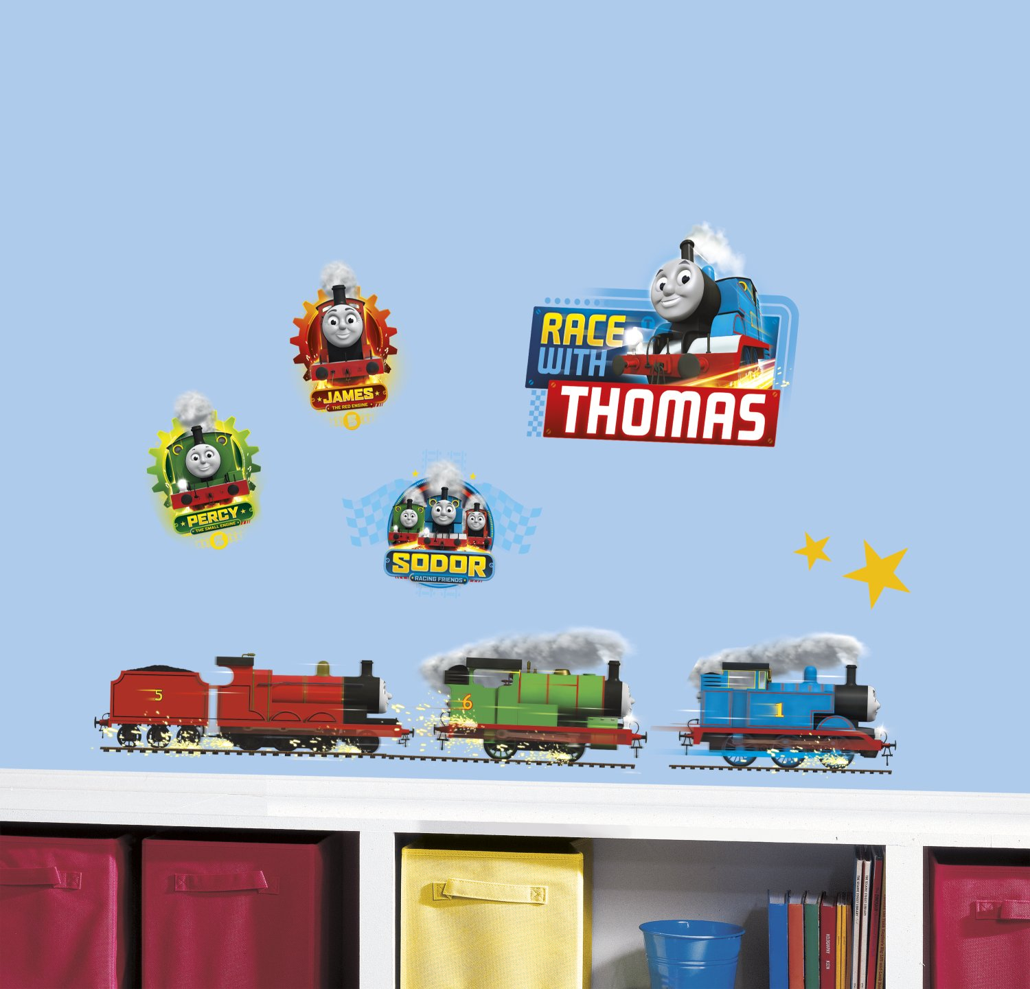 RoomMates Thomas and Friends Racing Peel and Stick Wall Decals RMK3235SCS