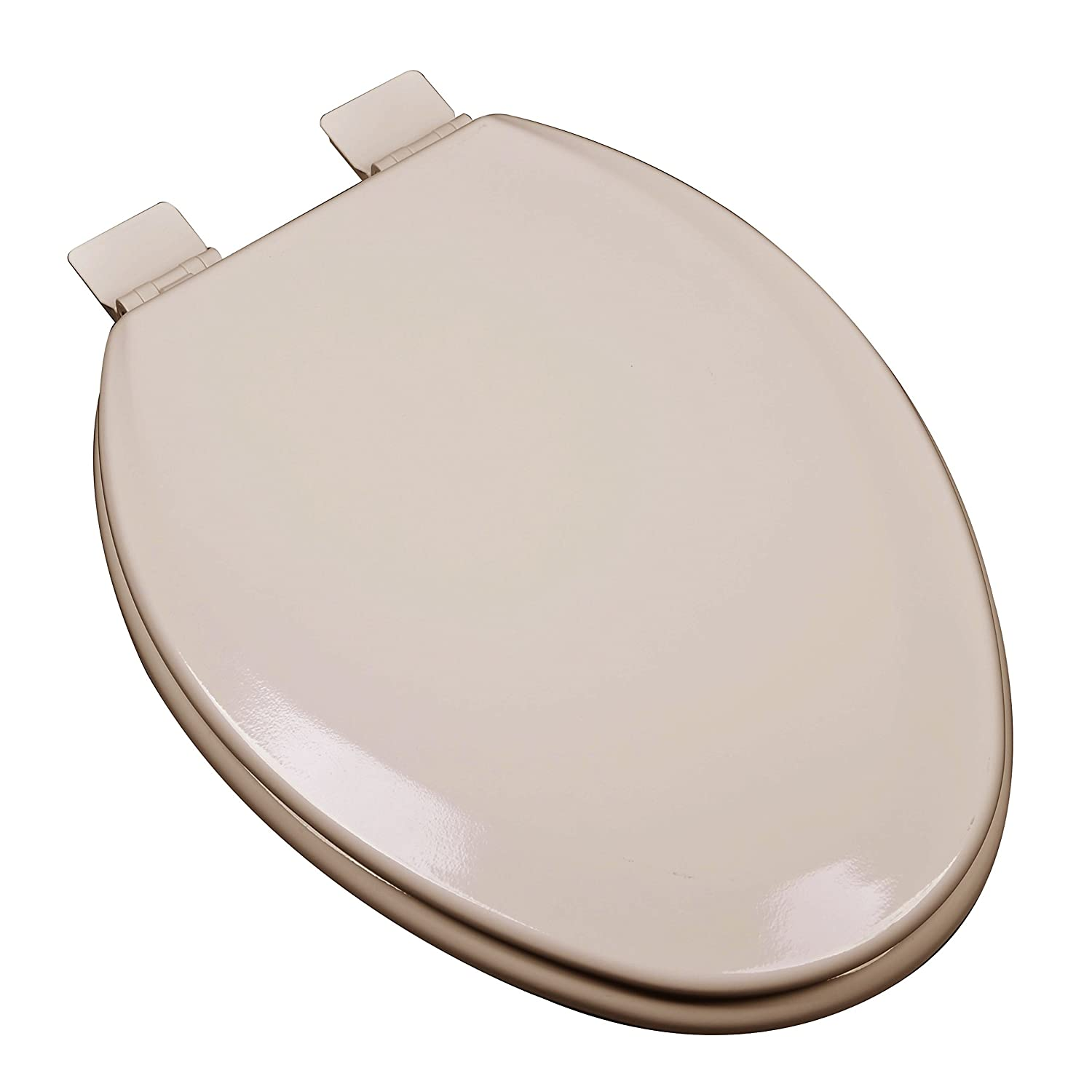 Bath Décor 1F1E5-30 Premium Molded Wood Elongated Toilet Seat with Adjustable Hinge & OSG, Fawn Beige 60%OFF