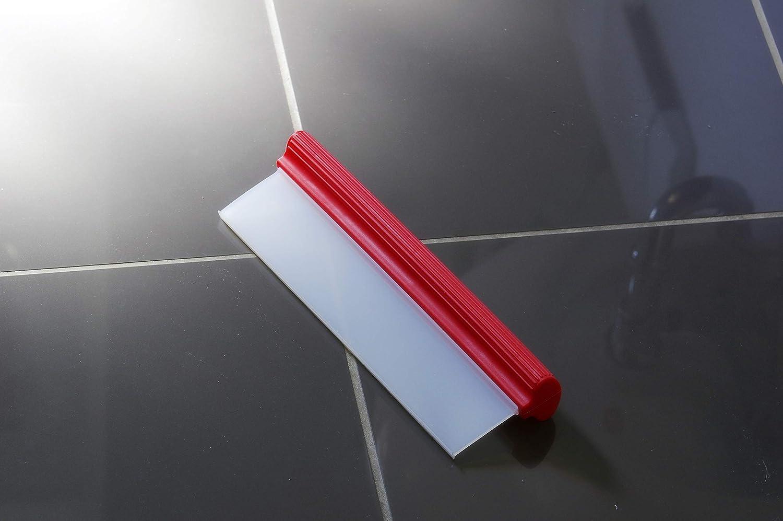 Glart cuarto de ba/ño cristales y grandes superficies limpia 31 cm de superficie de una pasada Esp/átula de silicona con agarre ergon/ómico para secar ventanas espejos ducha