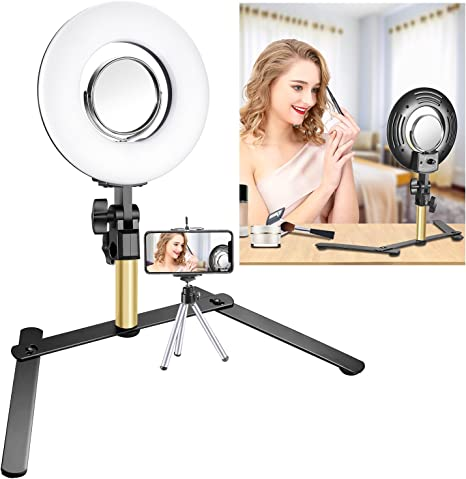 Roll over image to zoom in Neewer Tabletop Makeup Ring Light