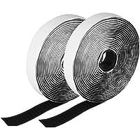 Etmury Serre-câbles Velcro Réutilisable, Attaches de Câble Sangles Velcro Nylon Auto-adhésif Réglable 40 PCS Crochets à boucle