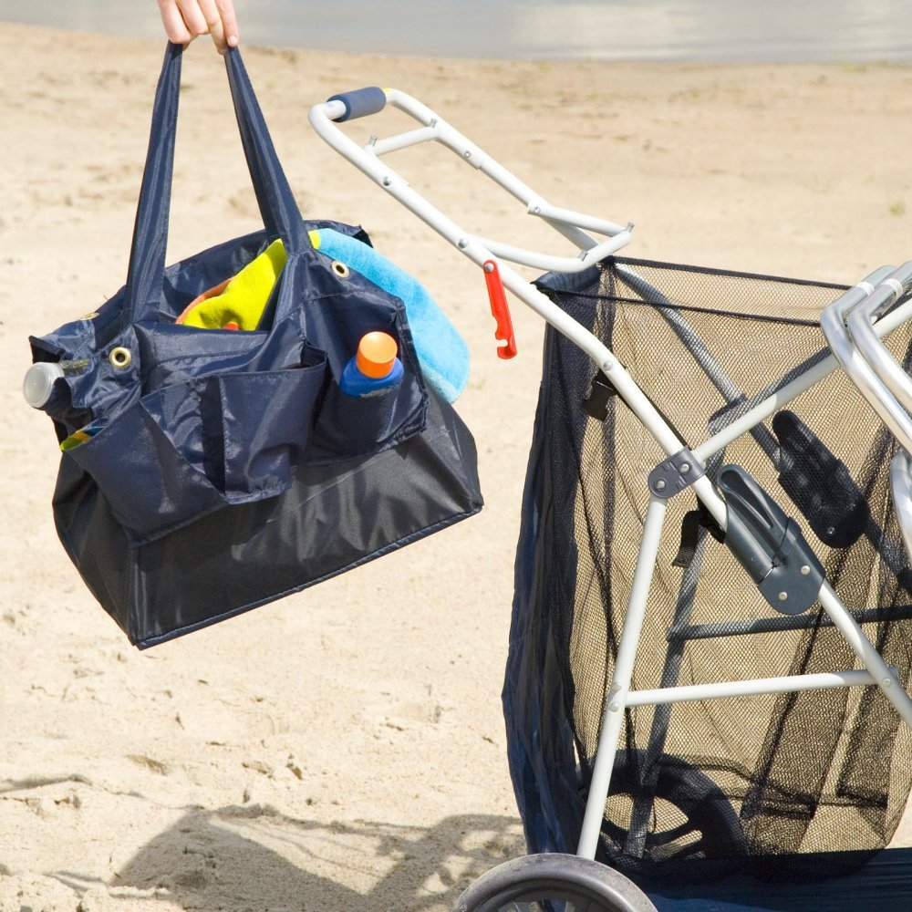 Most Popular Highest Rated Best Selling Beach Lake Wheeler Tote Deluxe Sturdy Cart Big Wheels by Rio (Image #3)