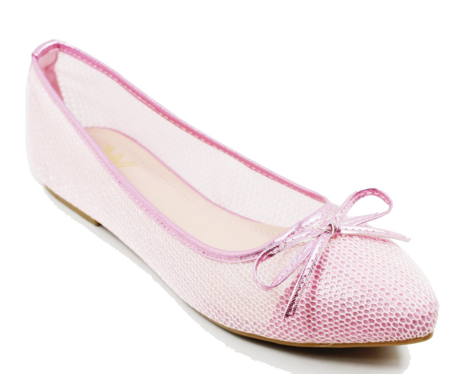 Walstar wedding shoes for bride Flat Shoes Mesh Flat Shoes B073WJ9NJG 8.5 B(M) US|Pink
