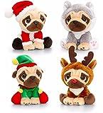 Keel Toys Pugsley Weihnachten Mops Hund Plüsch Kuscheltier