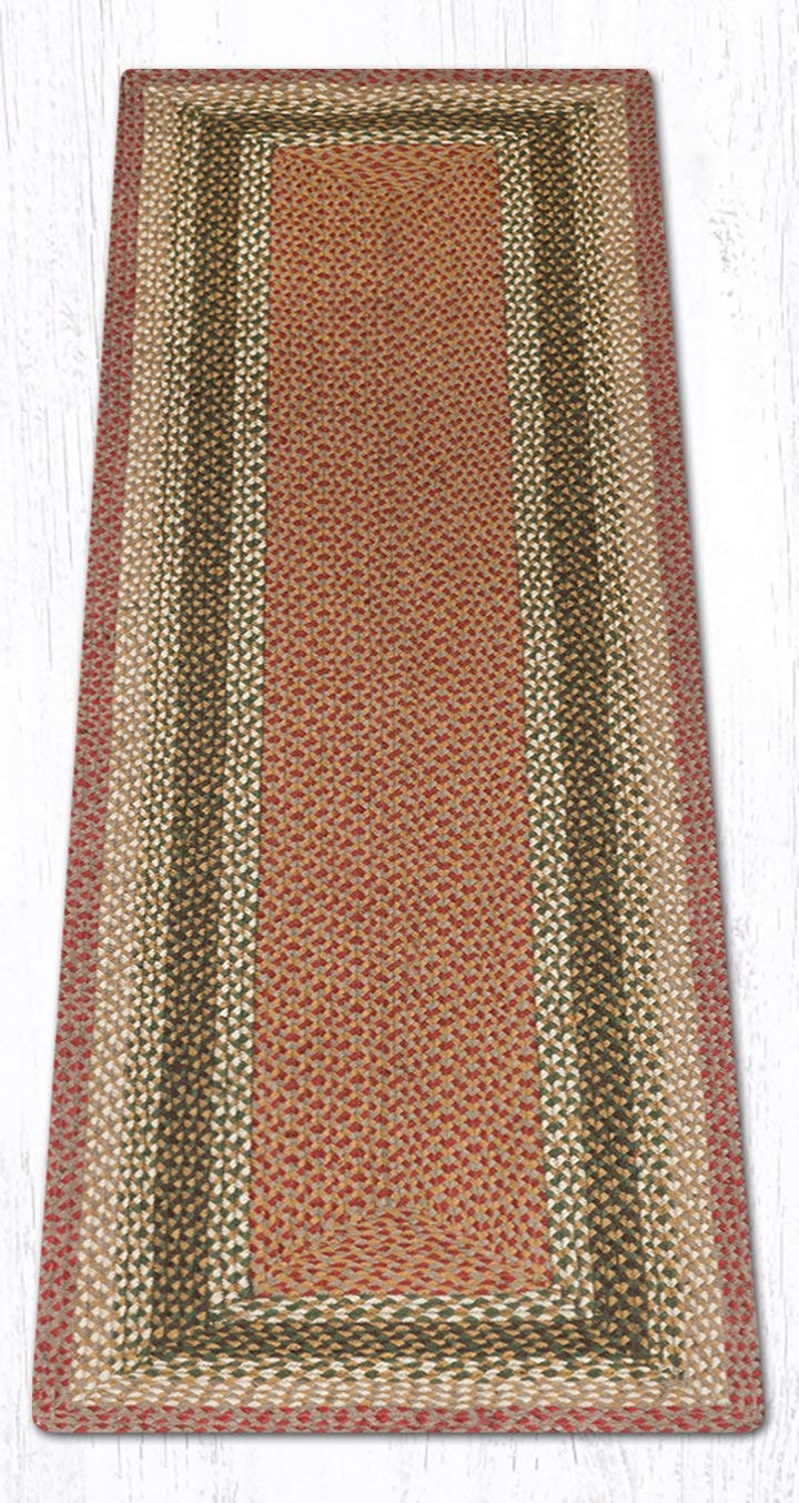 Earth Rugs Rectangle Area Rug, 4 x 6 , Olive Burgundy Gray