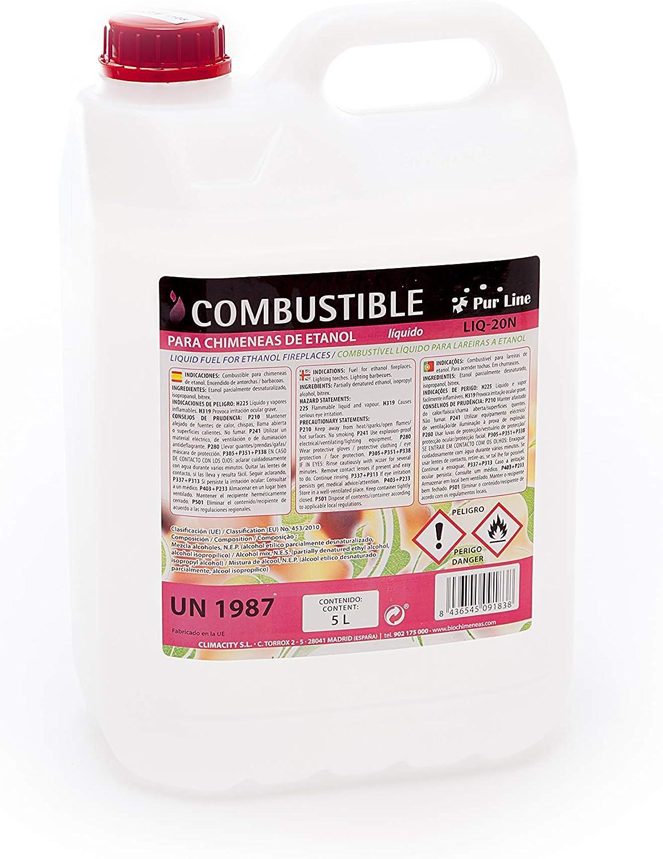 PURLINE LIQ-20N 5L Garrafa de 5L de combustible líquido natural para biochimeneas