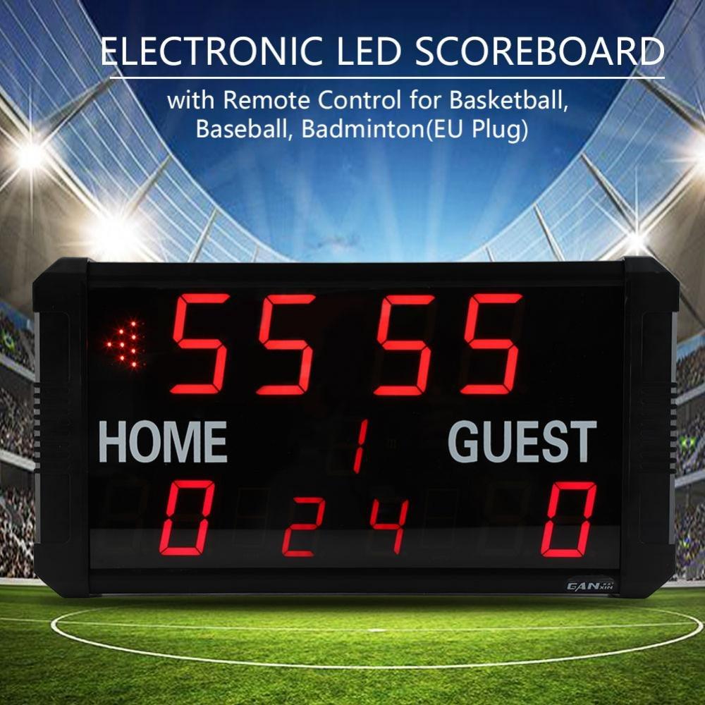 GOTOTOP Electrónico LED Marcador con Control Remoto para Baloncesto Béisbol Bádminton
