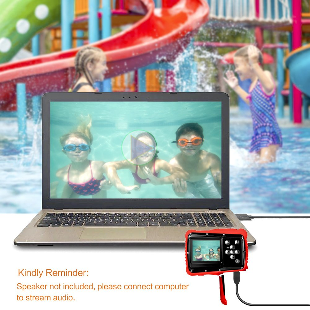 PELLOR Waterproof Sport Action Camera Kids Camera Camcorder 8M Pixels (Black, Screen: 2'') by Pellor (Image #7)
