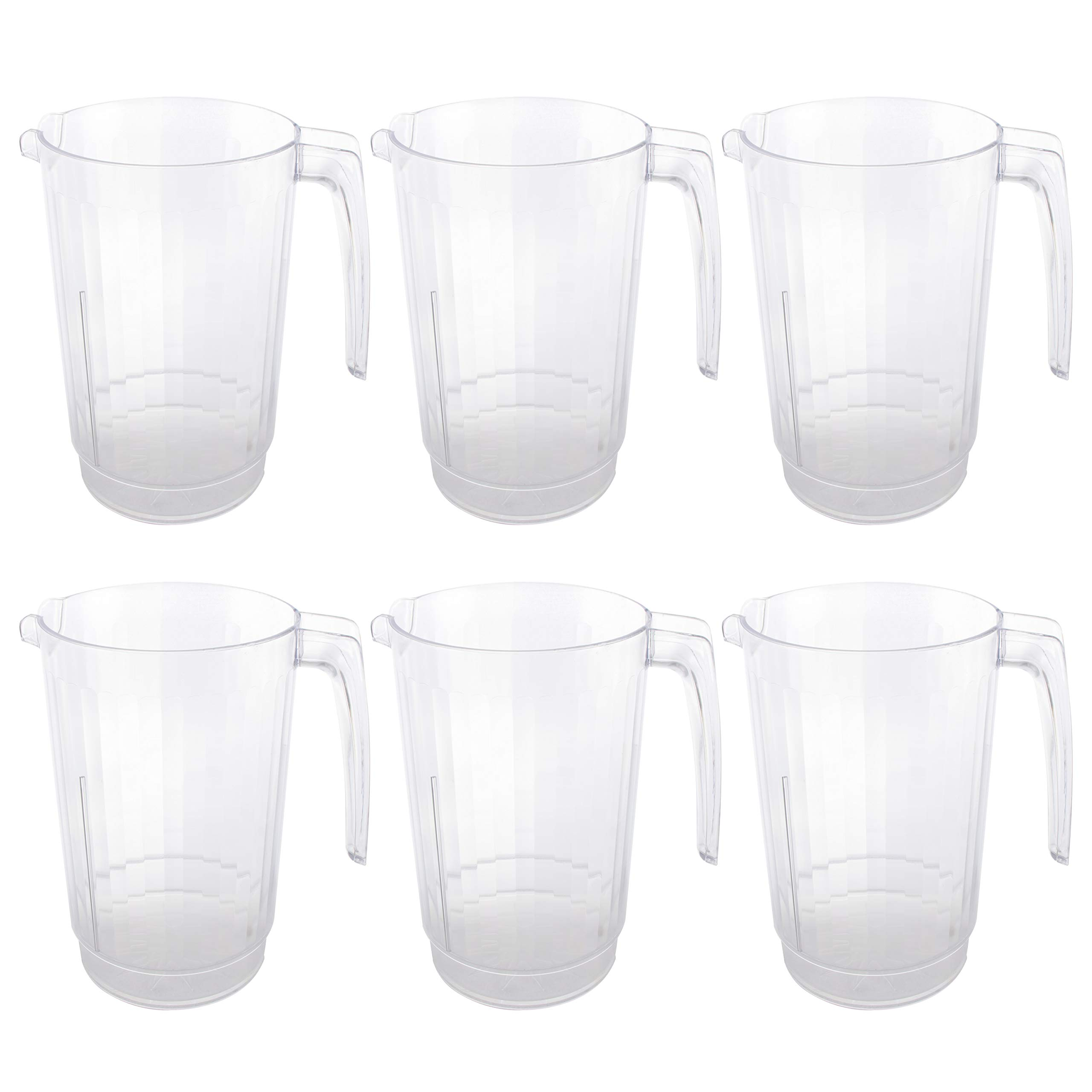 64 oz Plastic Water Pitchers Clear Beer Drink 6 PK
